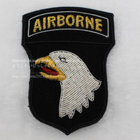 advanced embroidery machine - Spot gold advanced three dimensional embroidery America airborne division armband badge CM roaring Eagle