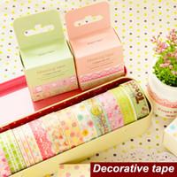Wholesale Sweet paper tape Cute lace Masking tapes Rilakkuma totoro kitty Washi decorative tape Zakka adesivo sticker School supplies