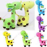 giraffe gifts - New Hot baby children Super Cute Giraffe Plush Doll Stuffed Toys cm quot Gift Doll With Suction SV001401