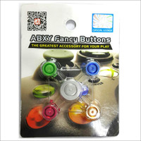 Wholesale DHL free brand new Aluminum Metal in ABXY fancy Button Repair Accessories Part for XBOX Controller