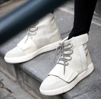 Wholesale Brand New Mens Shoes Kanye West Yeezy Boost Athletic Boots Basketball Shoes With Shoes Box Sports Boot Red October