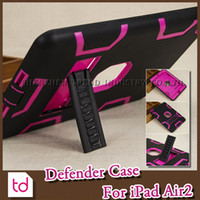 Wholesale For iPad Defender Case Fashion Defender Shockproof Armor Silicone Plastic Stand holder Hard Combo Robot Case Cover For iPad Air