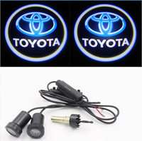 Wholesale 2PCS th w Led Car Door Light Car Logo Welcome Lights Auto Door Logo Lights Led for Toyota