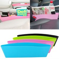 Wholesale 2015 Car Seat Gap Pocket Catcher Organizer Leak Proof Storage Box Trays Storage Chair Seam Stowing Tidying Box A17