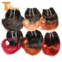 acid red dye - Ombre Peruvian Virgin Hair Extensions Body Wave Bundles Human Hair Weft Cheap Ombre Hair Weave Two Tone Colored Blonde Brown Red Burgundy