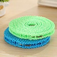 Wholesale 5m Nylon Outdoor Antiskid rope Clothes Hanger Clothesline Rope Line Cord String JS0221