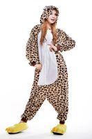 TV & Movie Costumes adult leopard onesie - OFF Top Quality Adult Unisex Men s Women s Lovely Cartoon Animal Pyjamas Cute Leopard Bear Pyjamas Onesie Costume Cosplay