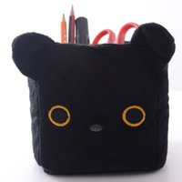 Wholesale San x Kutsushita Nyanko Cat SquarePencil Pen Holder Plush Stationery New LN