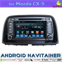 2 Din Car Dvd Système de navigation Quad Core pour Mazda CX-5 2013 avec Radio FM GPS Bluetooth OBD TPMS Mirror-Link