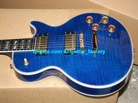Cheap free shipping Custom Blue Supre Electric Guitar fret binding Ebony fingerboard Guitar Electric Free shipping
