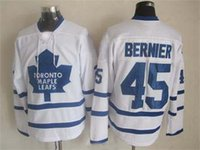 Wholesale 2014 New Jonathan Bernier White Jersey Cheap Ice Hockey Jerseys Top Quality Name Number Embroidered Brand Athletic Apparel