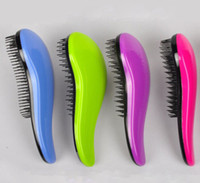hair salon tools - 10 Hair Brush Fashion Detangling Handle Shower Hair Brush Comb Salon Styling Tamer Tool