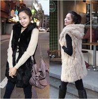 acrylic hood - 2014 Autumn And Winter Fashion Faux Fur Cape Vest With A Hood Thermal Fur Jackets Vest Outerwear