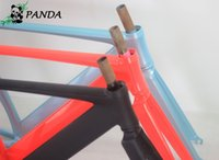 Wholesale Bicycle Parts Bicycle Frame Top Quality CM Smooth Welding Track Bike Fixed Gear Bicycle Frame Frame and fork together