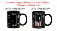 coffee mugs - Mugs Temperature Change Coffee Cups Novel Creative Tetris Ceramic Drinks Mugs with Black For Sale