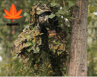 Wholesale Hunting Ghillie Suit D Leaf Camouflage Clothing Set Jungle Camo Sniper Archery