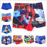 Cheap boys swim trunks Best spider-man Kids Swimwear