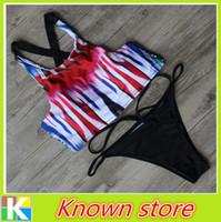 Acheter Haute couture modèles bikini-Nouveauté Printed High Neck Sexy Bikini 2016 Explosion Modèles Fashion Design Mesh Lady Swimwear Type creux maillot de bain