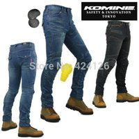 Wholesale Protection Knee With Womens Motorcycle KOMINE PK Jeans Super Fit Kevlar Denim Jeans Motocross Riding Off Road Jeans Pants