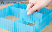 Wholesale 5pieces DIY Large drawer finishing partition drawer dividers plastic clapboard