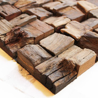 Wholesale Old ship wood mosaic wood weathered wood restaurant upscale clubs decoration materials backdrop background pictures XM
