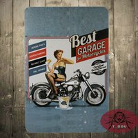 best motorcycle paint - Best garage for motorcycle tin poster Metal tin signs art wall decorative painting Nostalgic wall hanging painting