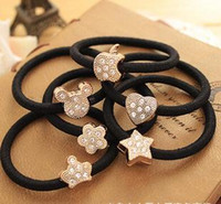Wholesale Korean Original Bow Pearls Flowers Rubber Band Casual Hair Ring for Women Headwear Hair Accessories
