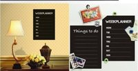 art wall calendars - Weekly Planner Calendar MEMO Chalkboard Blackboard Quote Wall Sticker Art Decal