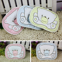 baby bean pillow - Hot baby pillow infant shape Toddler pillow Infant bedding print bear oval shape cotton baby shaping pillow