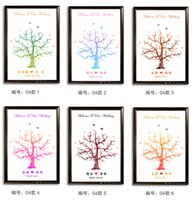 Wholesale 2015 Newest Wedding Guest Books Fingerprint Unique Printing Cloths Tree Romantic Wedding Supplies Different style And Size