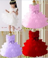 Wholesale 2015 latest small flower girls dresses princess dress for girl children party dress with pearl kids prom dress retail baby wedding dress