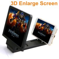 Wholesale 3D Enlarged Screen Mobile Phone Screen Magnifier Movies Amplifier with Practical Phone Bracket Stand Holder for IPhone Samsung Android Smart