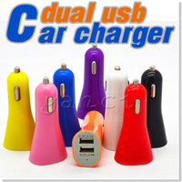 charger ipad mini - Car Charger for cell phone Mini Micro Dual USB Charger Adapter Dual USB Port With Micro USB Cable For iPhone Ipad Samsung HTC LG Sony