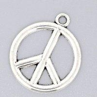 aa symbols - Hot Sale Silver Tone Peace Symbol Charm Pendants w00699x5 Aa