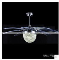 ceiling fan remote control - 201 LED ceiling light Novelty fashion folding invisible ceiling fans color transform remote control
