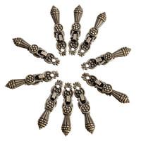 antique ceramic knobs - Jewelry Wooden Box Pull Handle Drawer Knobs Antique Bronze Flower cm x1 cm order lt no track