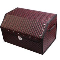 Cheap Black High-grade Wine Red Car Trunk Glove Box Best   Folding Receive Case