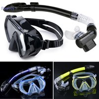 diving equipment - 2015 Top Quality Diving Equipment Scuba Diving Mask Snorkel Goggles Set Silicone Swimming Pool Equipment
