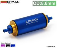 Wholesale Epman Racing Blue OD MM Hi Flow Motorsport Rally Racing Alloy Fuel Filter With Steel filter EP OF86 BL
