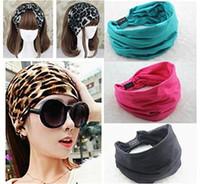 Wholesale 2015 New variety of wear method Cotton Elastic Sports Wide women Headbands for women hair accessories turban headband headwear
