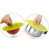 Wholesale Hot Seller Bowl Lid Sealing Fresh keeping Crisper Cover Food Safety Kitchen Gadgets Silicone Diameter CM JA64