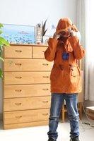 aviator hat orange - 2015 new Korean original single large single handsome boy hat aviator glasses and long hooded coat
