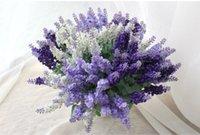 Wholesale 2015 Single branch provence lavender simulation flower export decorative silk flowers artificial flowers