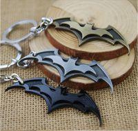 batman zinc ring - New Arrival Super Hero Superhero Marvel Batman Bat Metal Keychain Pendant Key Chain Chaveiro Key Ring KT195