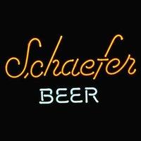 beer logo design - 17 quot x14 quot Schaefer Beer Logo Beer Bar design Real Glass Neon Light Signs Bar Pub Restaurant Billiards Shops Display Signboards