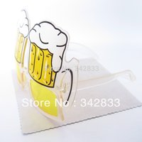 beer sunglasses - Fashion Special Design Novelties Prop Yellow Sunglasses Club Bar Pub Beer Glass Style Eyewear Drinking Glasses Party Accessories