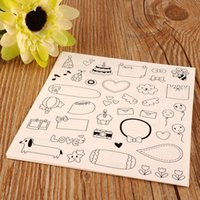 Wholesale New Cute Lovely Sheet Paper Stickers for Diary Scrapbook Calendar Photo Decor book greeting cards crafts