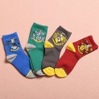 Wholesale Harry Potter Socks Colors Unisex Hogwarts Logo Gryffindor Slytherin Hufflepuff Ravenclaw Knit Sock for Gifts pair