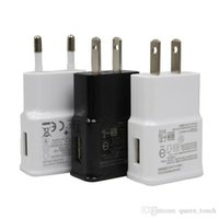 Wholesale USB Wall Charger V A Home Travel adapter EU US Plug Charger AC Power Adapter for Samsung Galaxy S3 S4 S5