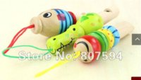 Wholesale 8 off Colourful educational toys enlighten Wooden Whistle building blocks sets child baby over three